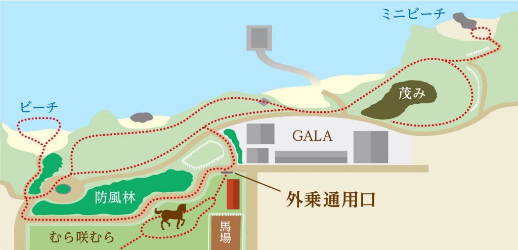 Trekking course map